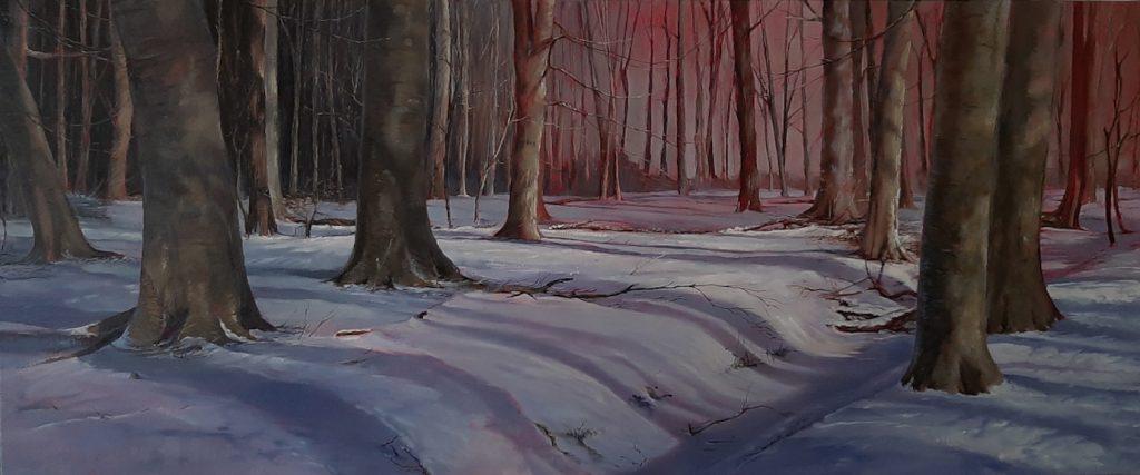 Kornelis Ram Schilderij Winterschaduwen - 2