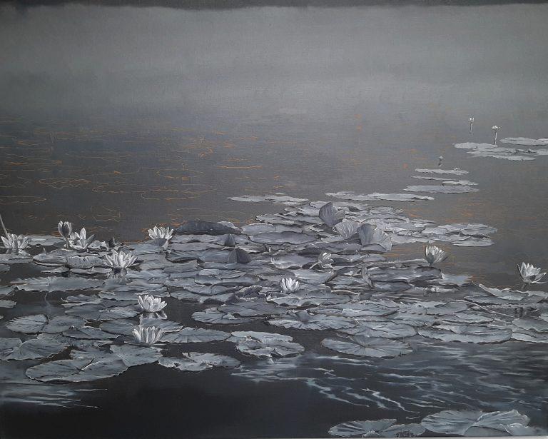 Kornelis Ram Schilderij Waterlelies Tienhoven